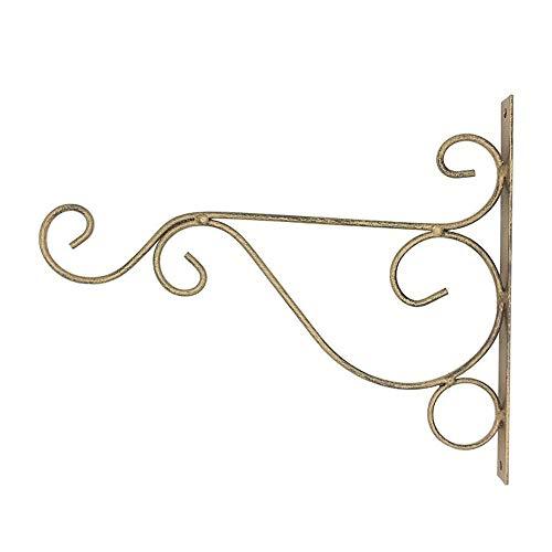 LLSS Garden Hanging Basket Brackets Eisen außen Metallwandhalterungen Halter Haken für Blumentöpfe Laterne Pflanzenhalter Innendekoration - Weiß