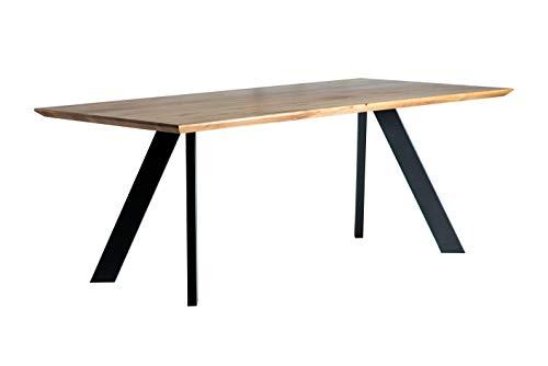 Amazon Marke -Alkove - Hayes - Massivholztisch mit A-förmigen Metallbeinen, 200cm, Wildeiche