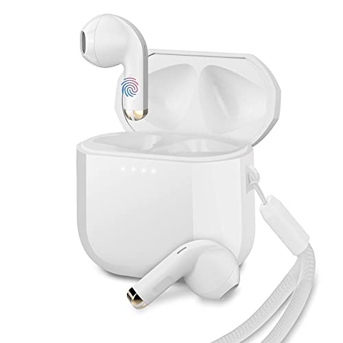 Sendowtek mini auriculares inalambricos, Auriculares Bluetooth 5.1TWS Cascos,Con estuche de carga y auriculares con micrófono, control táctil,auriculares inalambricos pequeños