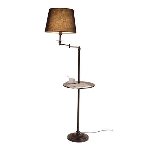 Lampe de table F Lampe de table verticale Style européen Simple et moderne Salon Chambre Rotation Vertical Plateau De Stockage Canapé Table Basse Lampe Multipurpose (Couleur : C)