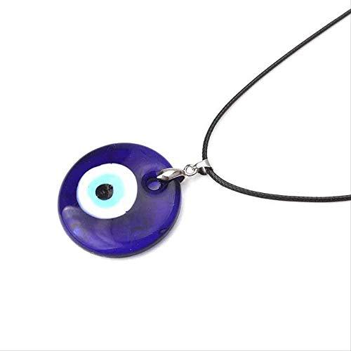 YANCONG Colgantes De Collar De Abalorios Malvados De 30Mm De Cristal Azul para Mujer, Collar Malvado, Accesorios De Joyería, Fabricación De Hallazgos