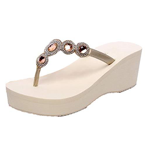 Mujer Chanclas Zapatos De Plataforma Sandalias Beach Sandal Flip Flops Zapatilla De...