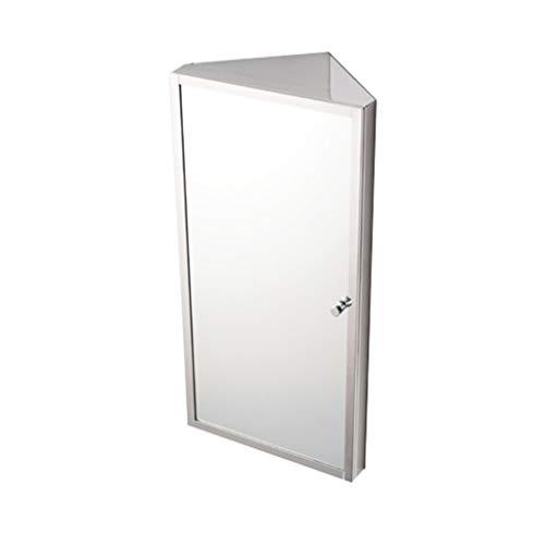 Armoire De Toilette Triangle Armoire De Toilette En Acier Inoxydable Armoire De Rangement De Salle De Bain Armoire De Toilette Murale (Color : Silver, Size : R)
