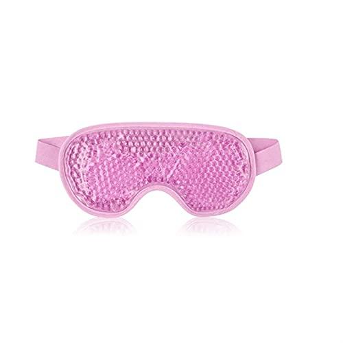 SONG Nueva máscara de Ojo de Gel Cuentas Reutilizables para la Terapia de frío Caliente Relajante Relajante Belleza Gel máscara Ocular Hielo Gafas de Hielo máscara para Dormir (Color : Pink)