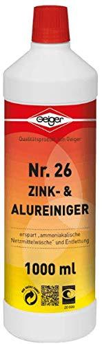 Geiger Chemie Nr. 26 Zink- & Alureiniger 1000ml Flasche
