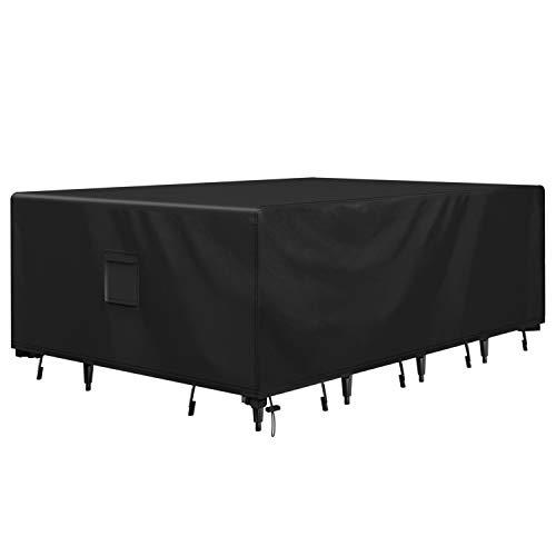 Brosyda - Fundas de Muebles de jardín Impermeables, Resistentes al Agua, para Muebles de Patio seccionales, Resistentes al Agua, 600D Oxford para Muebles de Exterior, sillas, mesas. (242x162x100cm)