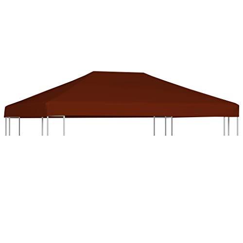 Tidyard Toldo de cenador Terracota 310 g/m² 3x4 m