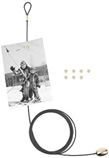 Kikkerland Photo and Card Holder with 8 Magnets, Black