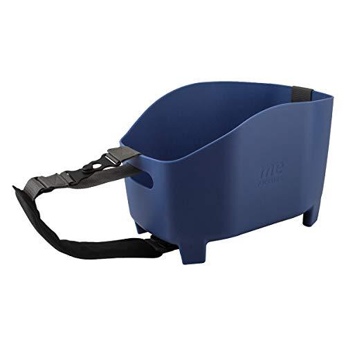 Racktime Unisex– Erwachsene Me Fahrradkorb, taubenblau, Volumen: 15 Liter