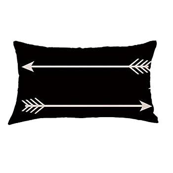 Bokeley Pillow Case Flax Rectangle Geometry Arrow Painting Decorative Throw Pillow Case Bed Home Decor Car Sofa Waist Cushion Cover  E