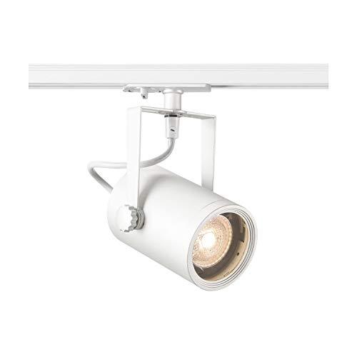 SLV 1 Phasen System Leuchte EURO SPOT / Strahler, LED-Spot, Decken-Strahler, Decken-Leuchte, Schienensystem, Innen-Beleuchtung / GU10 25.0W weiß