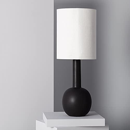 LEDKIA LIGHTING Lampada da Tavolo Guldan 760xØ280 mm Nero E27 Porcellana per Sale, Soggiorno, Cucina, Camera