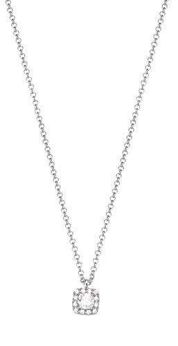 ESPRIT Damen-Kette mit Anhänger JW50526 925 Silber rhodiniert Zirkonia weiß Rundschliff 42 cm - ESNL92888B420