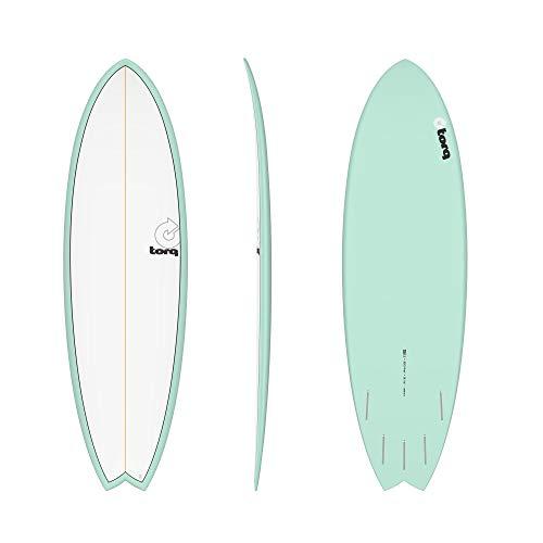 TORQ Tabla de surf epoxy TET 5.11 Mod Fish verde lago