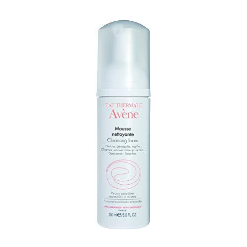 Eau Thermale Avene Cleansing Foam, Soap Free Foaming Face Wash for Oily, Sensitive Skin, Oil Free, 5 oz.