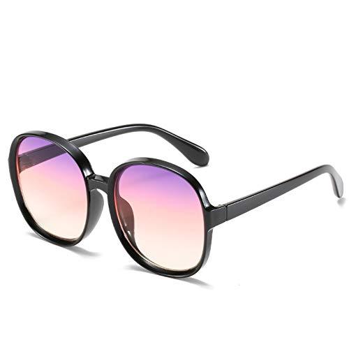 SHEANAON Gafas graduadas de Moda Gafas de Sol de Estilo de Montura Grande Gafas de Sol Coloridas Redondas Unisex para Hombres/Mujeres UV400