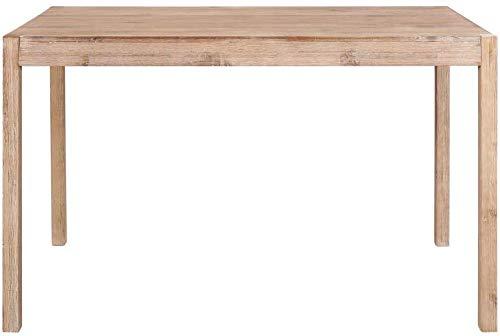 Muebles de cocina Mesa de madera de grado sólido 120x70x75 cm Mesa de madera elegante,Brown