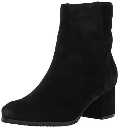 Blondo Women's Alida Ankle Boot, Black Suede, 6 M US