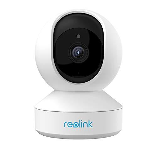 Reolink PTZ Cámara Vigilancia WiFi, 5MP Cámara IP Seguridad Inteligente 3X Zoom óptico 2.4/5GHz WiFi Cámara Interior Audio Bidireccional Visión Nocturna Detección de Movimiento Bebe Monitor, E1 Zoom