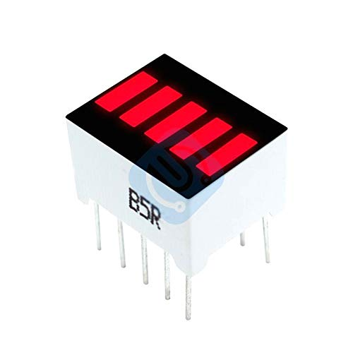 5PCS 5 Segment Red Color 1 Digit Bar LED Display for Arduino