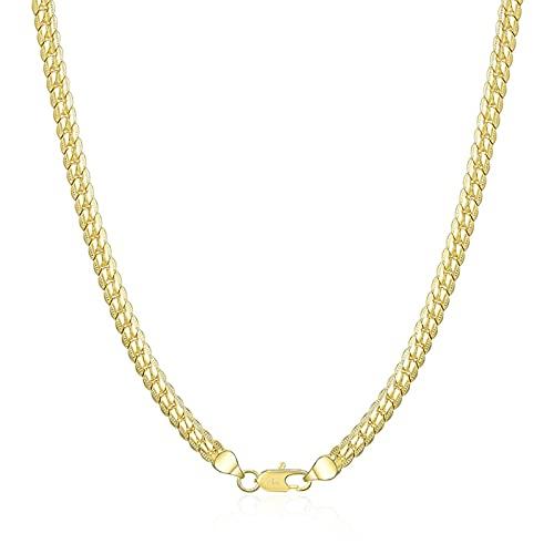 DOOLY 925 Plata esterlina 18/20/24 Pulgada Collar de Cadena de Laterales llenas para Mujer Joyería de Fiesta de Moda de Hombre