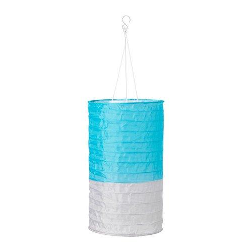 IKEA Solvinden Solarhängeleuchte röhrenförmig Blau Grau 23cm
