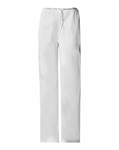 CHEROKEE Big and Tall Premium Core Stretch Unisex Cargo Scrubs Hose, Weiß, XXL