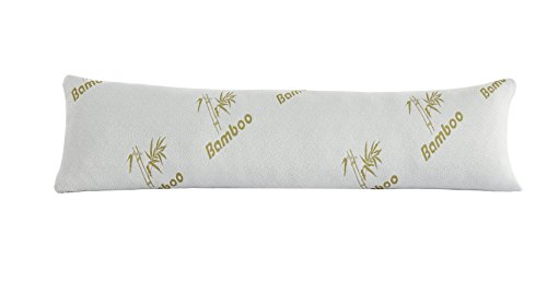 Linen Plus Bamboo Body Pillow with Shredded Memory Foam for Comfort and Support Breathable Cooling Hypoallergenic New