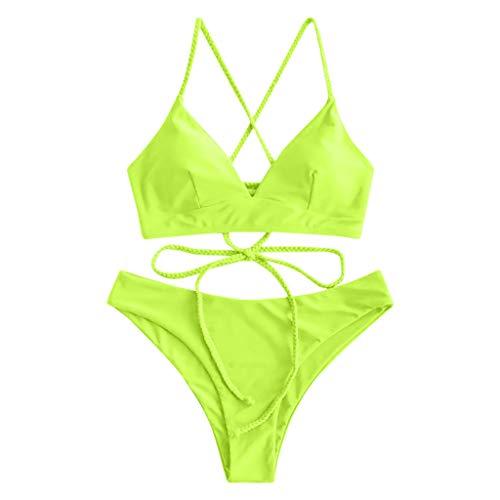Bikini Mujer Push Up Traje de baño Estampado de Luna Estrella Mujeres Conjunto Bikini Playa Beachwear Acolchado Tops y Braguitas Señoras 2020 brasileños vikinis riou