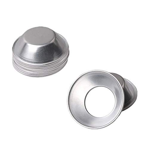 25Pack Egg Tart Molds Mould Mini Tiny Pie Muffin Cupcake Pans Bakeware Cake Cookie Mold NonStick Puto Cup(Aluminum)
