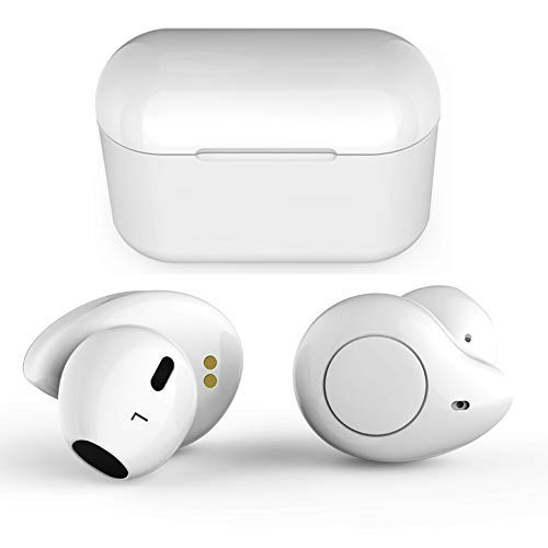 True Wireless Earbuds, Willful T1 Bluetooth Earbuds Wireless Earphones Headphones HD Stereo Sound Clear Call 20H Playtime Earbuds with Microphone Charging Case Compatible iPhone Samsung Android White