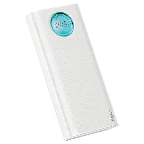 Carregador Power Bank Digital Fast Charge 3a 20000mah Baseus (Branco)