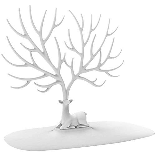 Jsdufs Soporte para Joyas árbol de Joyas Almacenamiento de Joyas Soporte para Pendientes Collares Anillos Almacenamiento de Pendientes Soporte para Joyas, Organizador de Escritorio árbol de Joyas