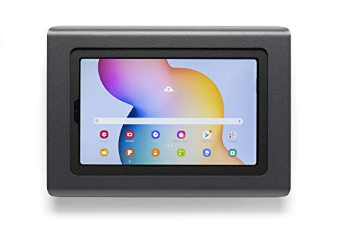 Tabdoq Soporte de pared antirrobo compatible con Samsung Galaxy Tab S7+ de 12,4 pulgadas (negro)