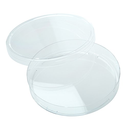 Celltreat 229694 Petri Dish, Slideable, Sterile, 100 mm x 15 mm, 20 per Bag, Clear (Pack of 500)