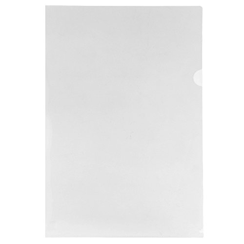 JAM PAPER Plastic Sleeves - Tabloid Size - 11 3/8 x 17 3/8 - Clear Project Pockets - 12 Page Protectors/Pack