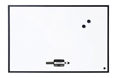 Bi-Office Whiteboard New Basic, Magnetisch, Trocken Abwischbare Weißwandtafel mit Schwarzem MDF Rahmen, 585x385 mm