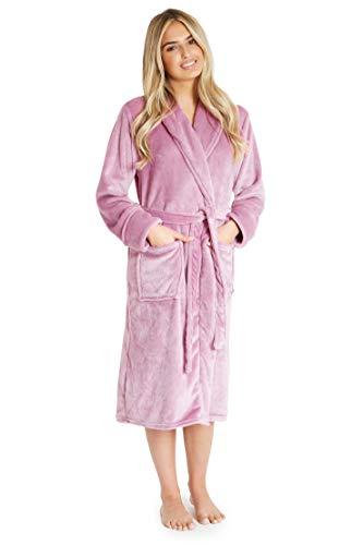 CityComfort Peignoir Femme | Robe de Chambre Femme Polaire Super Douce à Capuche | Peignoir de Bain Spa Épais Absorbant | Sortie de Bain | Idée Cadeau Femme Fille Ado (M, Orchidée)