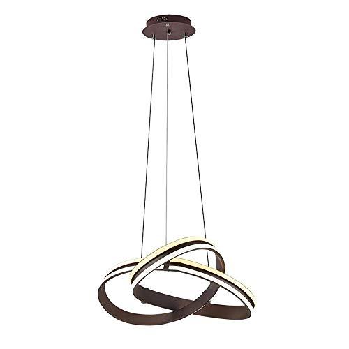 JYDQM Pendiente moderna iluminación regulable sin escalonamiento de Transición de la lámpara de techo de acrílico de atenuación de la lámpara minimalista de onda luz colgante contemporáneo Comedor Coc