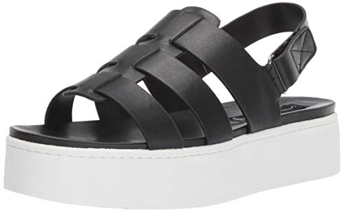 Price comparison product image STEVEN by Steve Madden Women's Ginny Sandal,  Black Leather,  8 M US
