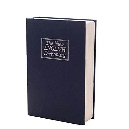 Liadance Inicio Libro Seguro con Equipos Combinación de Bloqueo Inicio Diccionario desvío Metal Seguro de la Cerradura Caja Creativa de la Seguridad Azul