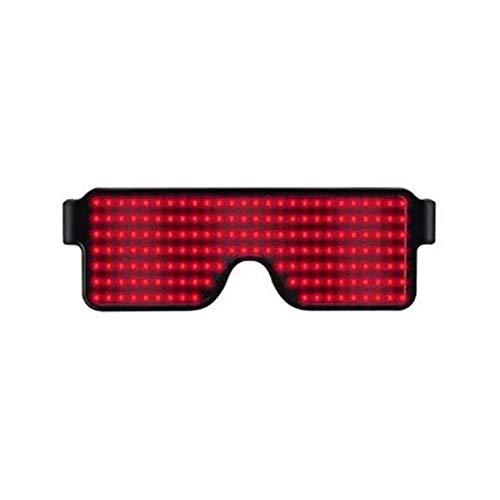XIONGDA LED-Partei-Licht nach Oben Brille Glühend Brille Shutter Mode lustige Brille Augenmaske erstaunliche kühle Brillen für Weihnachten Halloween Wild Party-Tanz-Kugel Nacht Clubbing,Rot