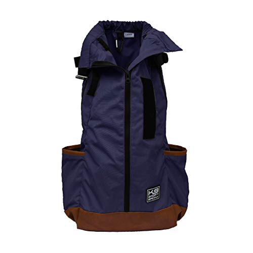 K9 Sport Sack | Dog Carrier Backpack for Small and Medium Pets | Front Facing Adjustable Dog Backpack Carrier | Fully Ventilated | Veterinarian Approved (Large, Urban 2.0 - Navy)