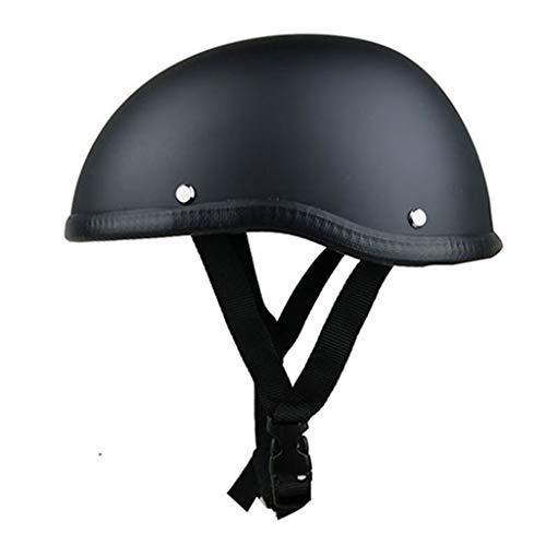 GAOZ Unisex Moto Helmets · Brain-Cap · Halbschale Jet-Helm Motorrad-Helm Roller-Helm Retro · Cruiser Chopper Bike Mofa Scooter Schutzhelm ECE-Zulassung (55-60 cm)