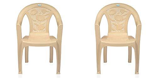 Nemi Agency Nilkamal Plastic Chair CHR 2060, MBG Pack of 2