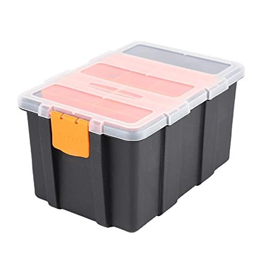 Caja de herramientas de servicio Maleta de herramientas de plástico portátil Piezas de electricista Funda de almacenamiento de hardware para electricista Dispositivos de coche Reparación con tapa tran