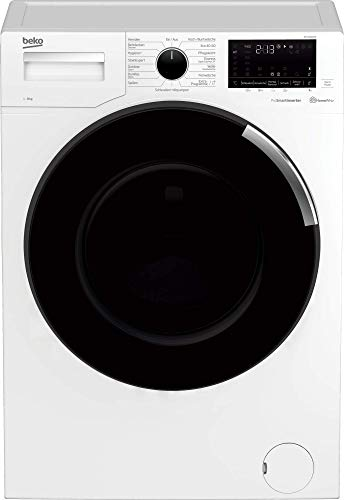 Beko WTC81465S Waschmaschine -Performance Hero/Premium-Design/Vollelektronisch/Touch-Display mit Startzeitvorwahl/1400 U/min/Bluetooth/8 kg, weiß