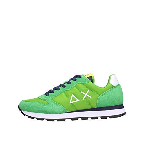 SUN 68 Sneakers Uomo Basse Z31101 88 Tom Solid Nylon Verde Prato Taglia 42 Verde Prato