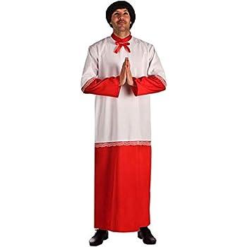 El Rey del Carnaval Disfraz de Monaguillo para Hombre: Amazon.es ...