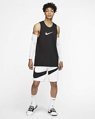 Nike PRO Dry Top Crossover Maillot, T-Shirt Uomo, Nero (Black/Dk Smoke Grey), M